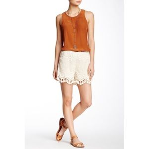 NWT Women's Natural Lace Short